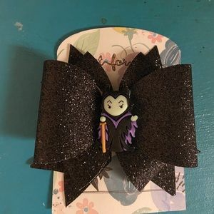 Maleficent leather bow